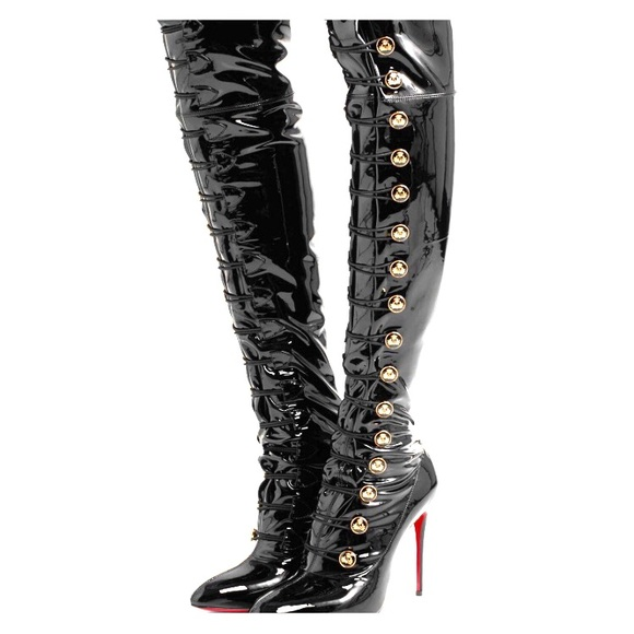 quality design 72b58 86704 CHRISTIAN LOUBOUTIN Frenchissima Alta Boots NWT